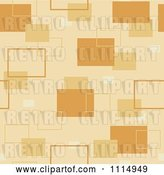 Vector Clip Art of Retro Seamless Tan Rectangle Background Pattern by Dero