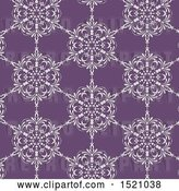 Vector Clip Art of Retro Seamless White and Purple Floral Pattern Background by KJ Pargeter