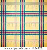 Vector Clip Art of Retro Seamless Yellow Green and Magenta Tartan Plaid Background by Oligo