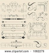Vector Clip Art of Retro Set of Corner Rules Borders and Frames by Vectorace