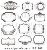 Vector Clip Art of Retro Set of Ornate Frame Design Elements by Vectorace