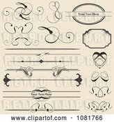 Vector Clip Art of Retro Set of Swirl and Floral Rules Borders and Frames by Vectorace