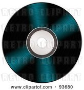 Vector Clip Art of Retro Shiny Vinyl Record or Black CD by Michaeltravers