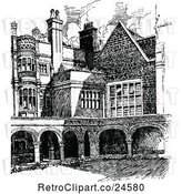 Vector Clip Art of Retro Sidney Sussex College in Cambridge Uk by Prawny Vintage