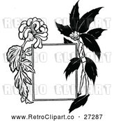 Vector Clip Art of Retro Sig with Flower Characters by Prawny Vintage