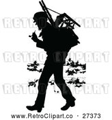 May 4th, 2018: Vector Clip Art of Retro Silhouette Vagrant Man by Prawny Vintage