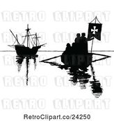 Vector Clip Art of Retro Silhouetted Boats by Prawny Vintage