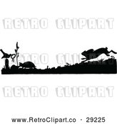 Vector Clip Art of Retro Silhouetted Racing Tortoise and Hare by Prawny Vintage