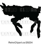 Vector Clip Art of Retro Silhouetted Running Lamb by Prawny Vintage