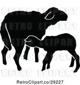 Vector Clip Art of Retro Silhouetted Sheep by Prawny Vintage