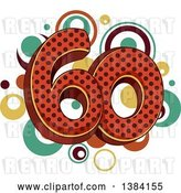Vector Clip Art of Retro Sixtieth Anniversary or Birthday Design with Number 60 and Dots by BNP Design Studio