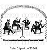 Vector Clip Art of Retro Sketched Band of Musicians by Prawny Vintage