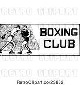 Vector Clip Art of Retro Sketched Boxing Club Design by Prawny Vintage