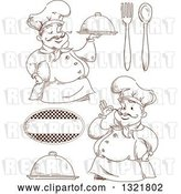Vector Clip Art of Retro Sketched Male Chefs and Accessories by BNP Design Studio