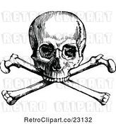 Vector Clip Art of Retro Skull and Crossbones 1 by Prawny Vintage