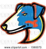 Vector Clip Art of Retro Smooth Fox Terrier Dog Mascot by Patrimonio