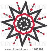 Vector Clip Art of Retro Snowfkale Design by Cherie Reve