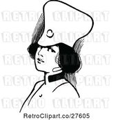 Vector Clip Art of Retro Soldier Girl by Prawny Vintage