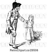 Vector Clip Art of Retro Soldier Grabbing a Girl by Prawny Vintage
