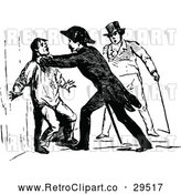 Vector Clip Art of Retro Soldier Strangling a Man by Prawny Vintage