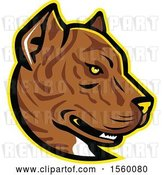 Vector Clip Art of Retro Spanish Bulldog Alano Espanol Dog Mascot by Patrimonio