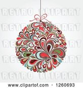 Vector Clip Art of Retro Splash Christmas Bauble on Shading by OnFocusMedia