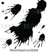 Vector Clip Art of Retro Splatter Design 2 by Prawny Vintage
