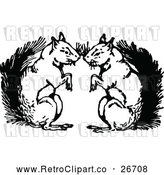 April 16th, 2018: Vector Clip Art of Retro Squirrel Couple by Prawny Vintage