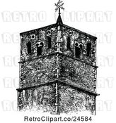 Vector Clip Art of Retro St Benedicts Church Tower in Cambridge Uk by Prawny Vintage