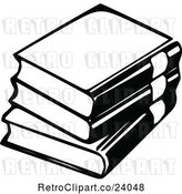 Vector Clip Art of Retro Stack of 3 Books by Prawny Vintage