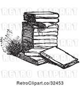 Vector Clip Art of Retro Stack of Books in by Picsburg