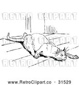 Vector Clip Art of Retro Stalking Cat by Prawny Vintage