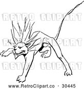 Vector Clip Art of Retro Stalking Lion by Prawny Vintage