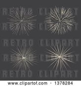 Vector Clip Art of Retro Star Bursts on Gray by KJ Pargeter