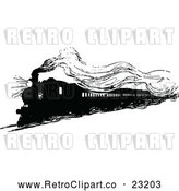 Vector Clip Art of Retro Steam Engine Train by Prawny Vintage