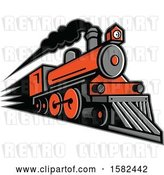 Vector Clip Art of Retro Steam Locomotive Train by Patrimonio