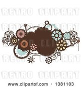 Vector Clip Art of Retro Steampunk Design with Gears by BNP Design Studio