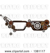 Vector Clip Art of Retro Steampunk Glasses Frames with Gears by BNP Design Studio