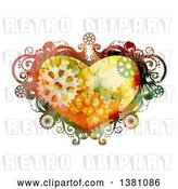 Vector Clip Art of Retro Steampunk Heart Frame with Gears by BNP Design Studio
