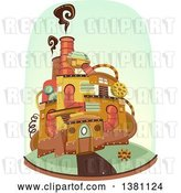 Vector Clip Art of Retro Steampunk Home by BNP Design Studio