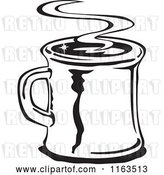 Vector Clip Art of Retro Steamy Mug of Coffee by Andy Nortnik