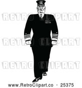 Vector Clip Art of Retro Stern Admiral by Prawny Vintage
