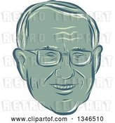 Vector Clip Art of Retro Styled Face of Bernie Sanders, Democratic 2016 Presidential Candidate by Patrimonio