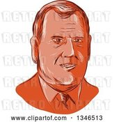 Vector Clip Art of Retro Styled Face of Chris Christie, 2016 Presidential Candidate by Patrimonio