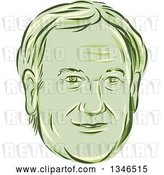 Vector Clip Art of Retro Styled Face of Lincoln Chaffee, 2016 Presidential Candidate by Patrimonio