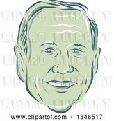 Vector Clip Art of Retro Styled Face of Martin O'Malley, 2016 Presidential Candidate by Patrimonio