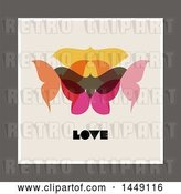 Vector Clip Art of Retro Styled Moth and Love Design by Elena