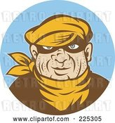 Vector Clip Art of Retro Styled Robber Logo by Patrimonio
