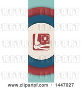 Vector Clip Art of Retro Styled Vertical Elbow Banner by Vector Tradition SM