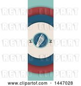Vector Clip Art of Retro Styled Vertical Foot Banner by Vector Tradition SM